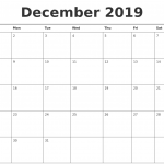 {Best} Free* Blank December 2019 Calendar Templates Printable with Notes