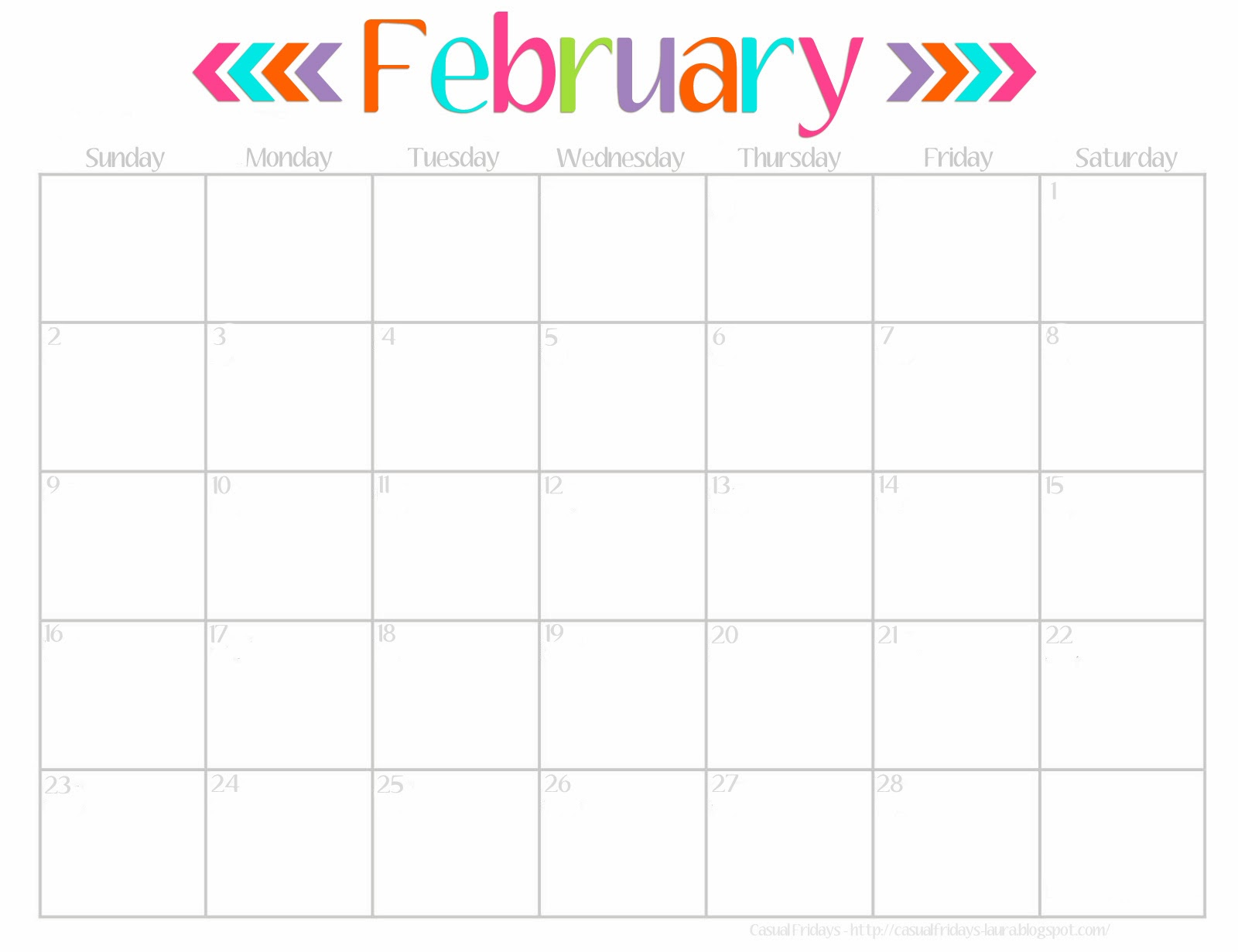 free fillable calendar 2015