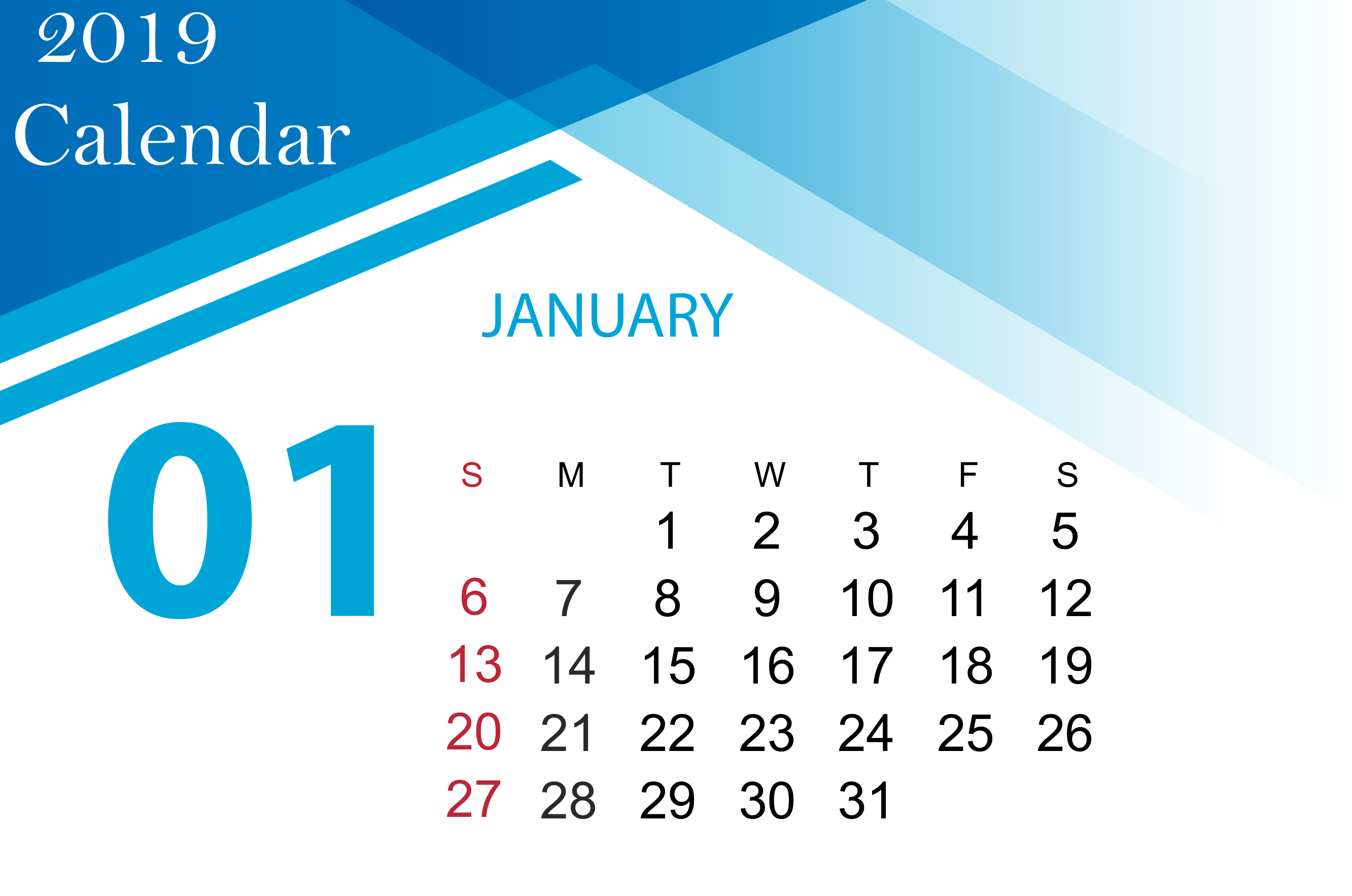 January 2019 Printable Calendar A4 11 8 5 Editable Page With Notes Excel