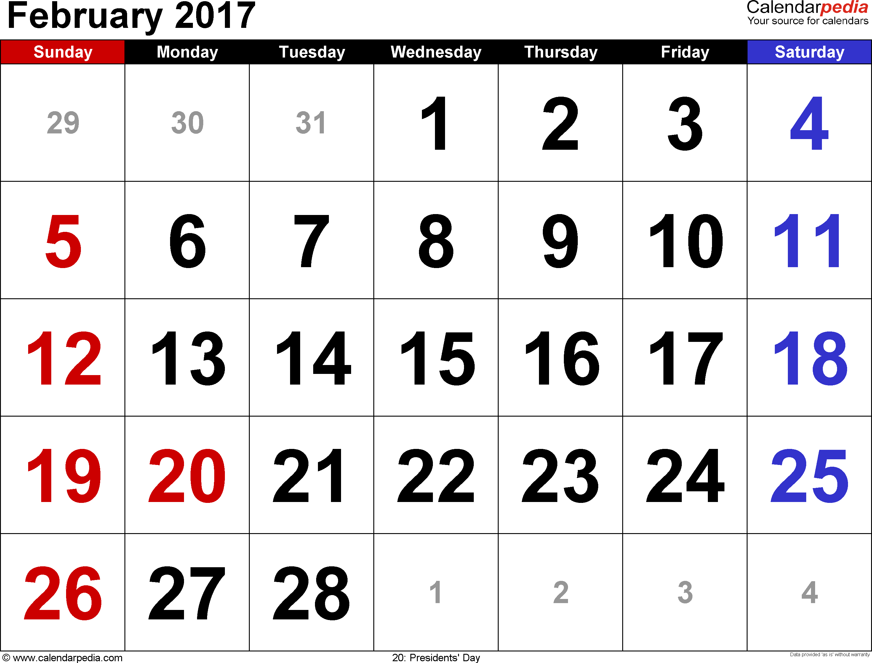 february 2017 calendar with holidays canada