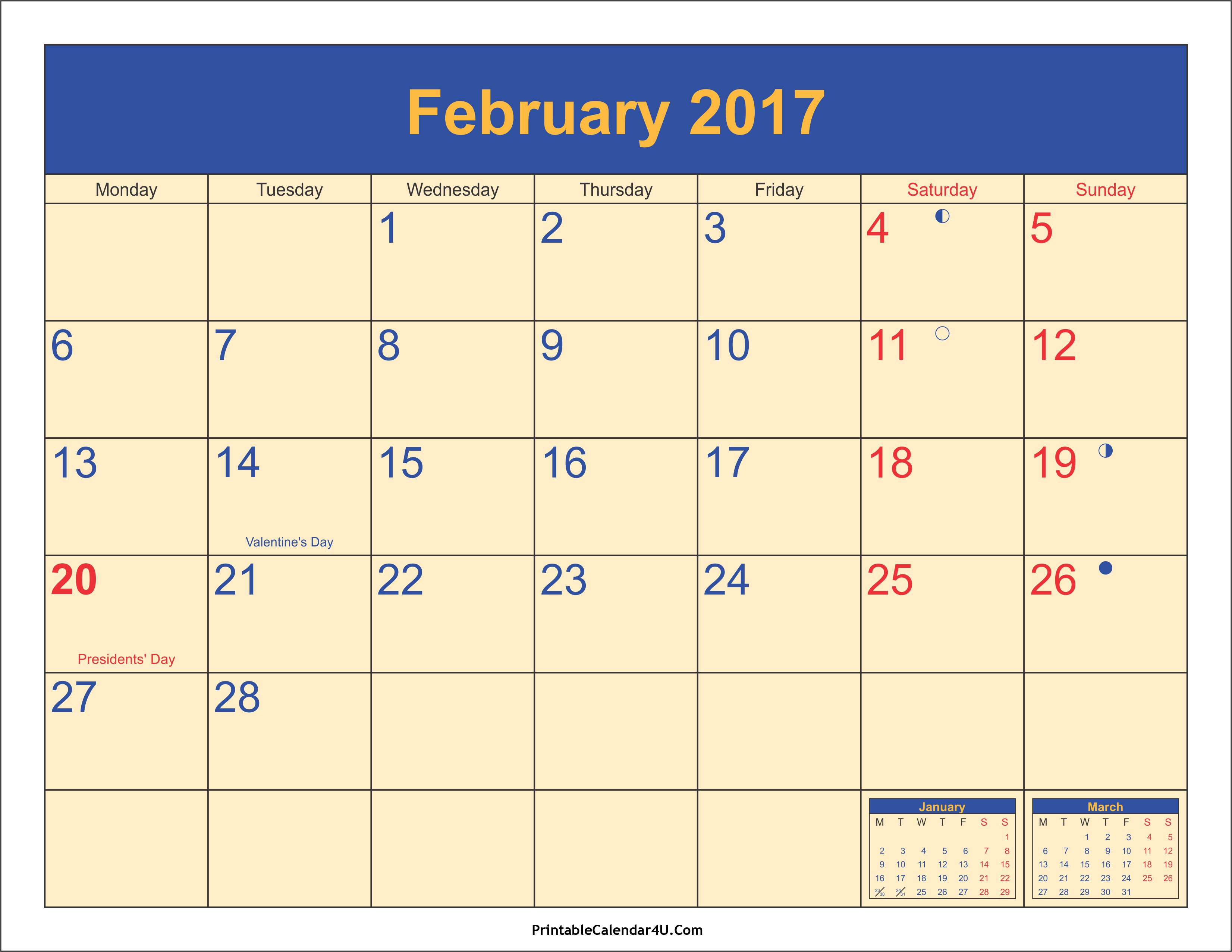 february 2017 calendar with holidays malaysia