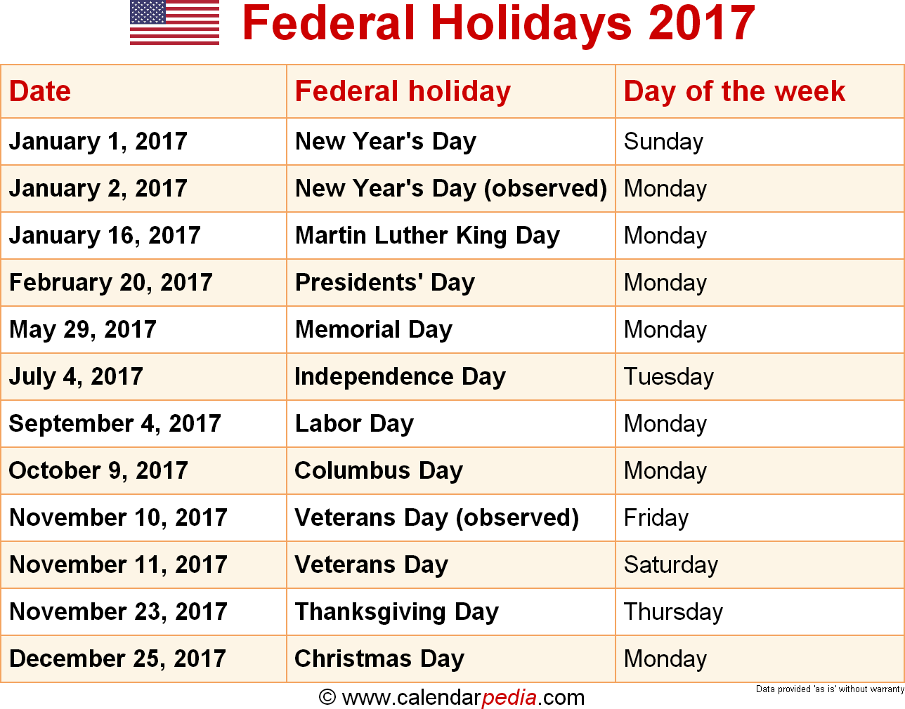 february 2017 holidays and observances