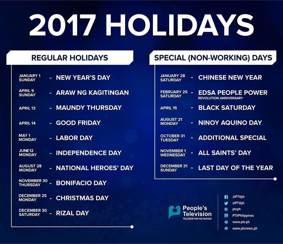 april 2017 calendar with holidays philippines