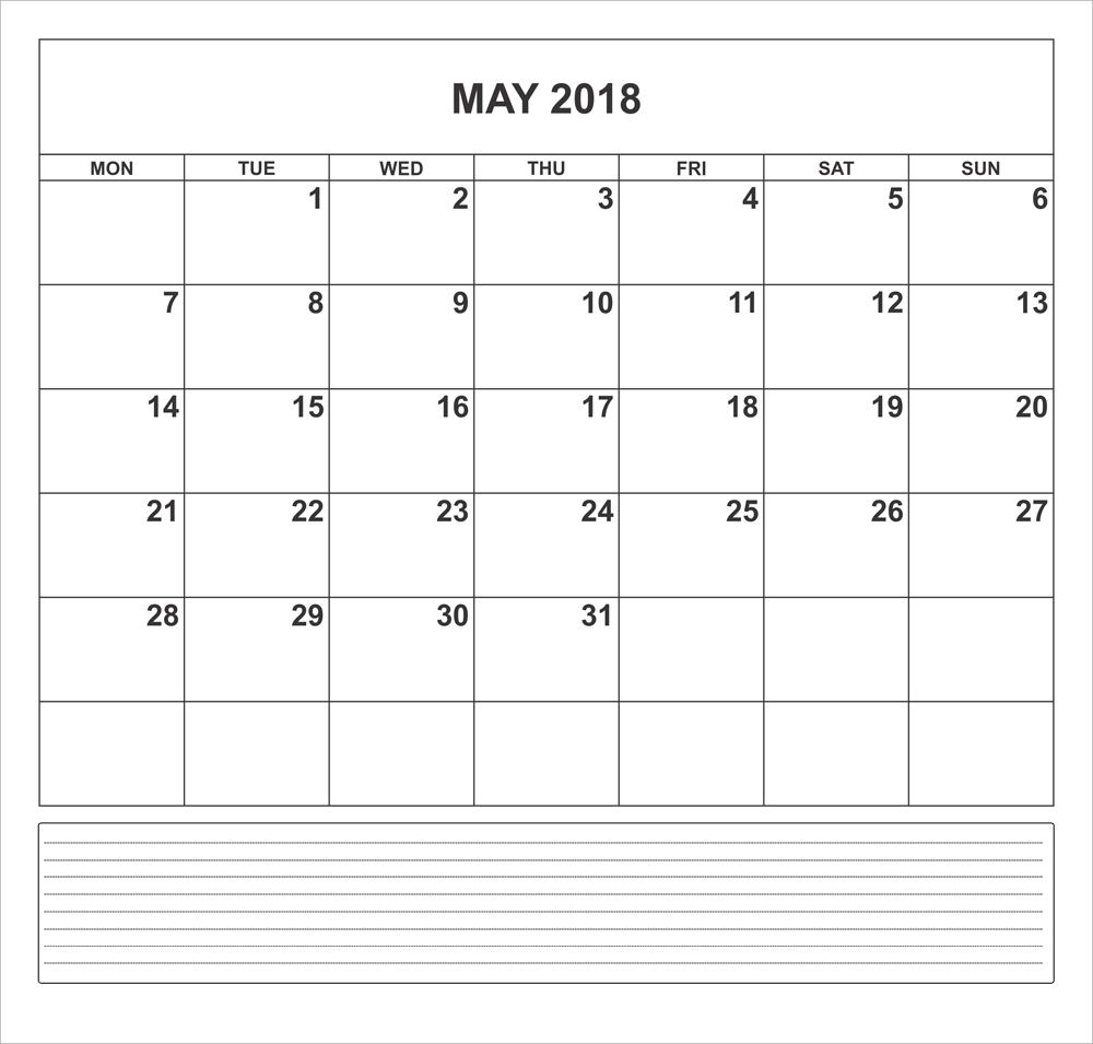 word document calendar 2018