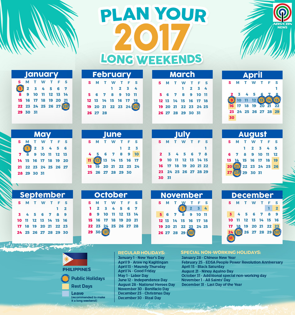 April 2017 Calendar Philippines