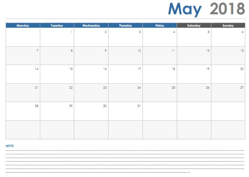Free May 2019 Printable Calendar Usa Uk Canada