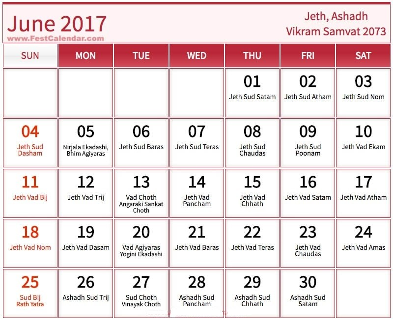 june 2017 calendar with holidays india