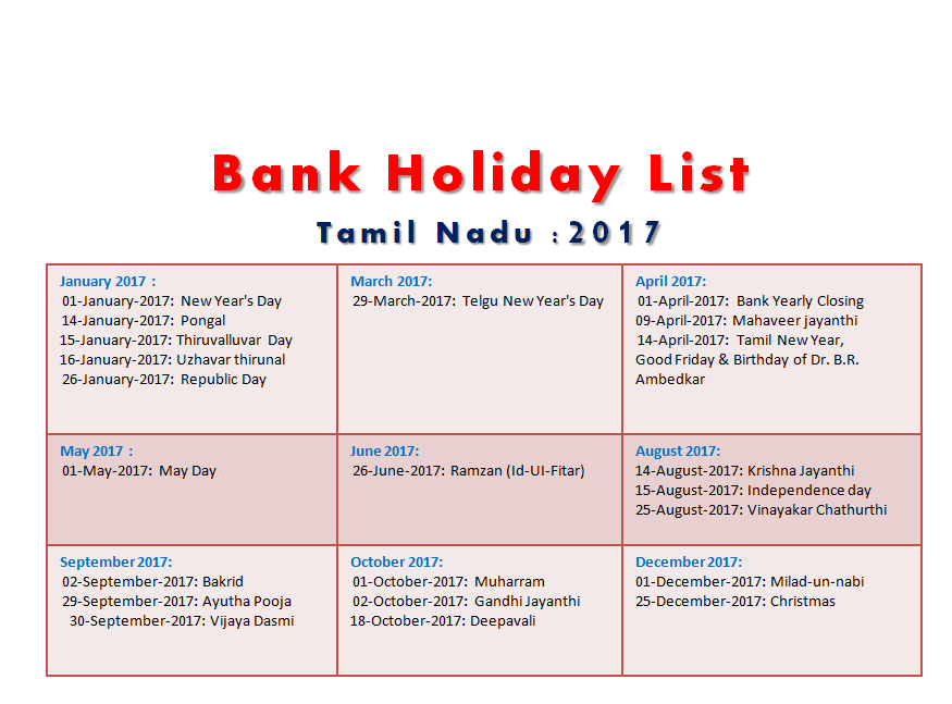 may 2017 holidays tamil