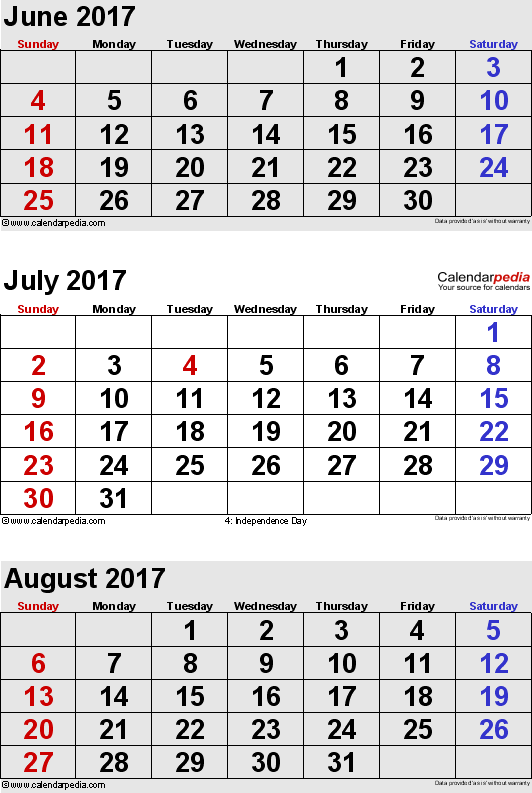 july 2017 calendar printable portrait