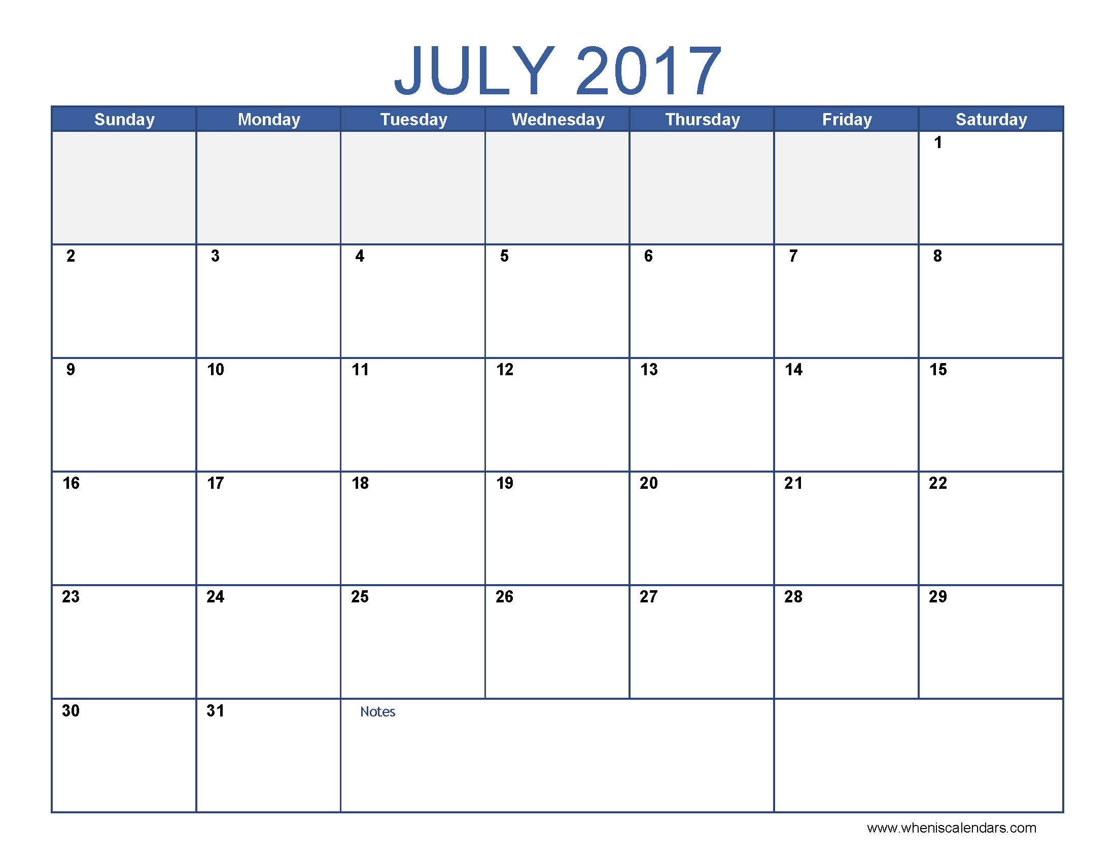 printable july 2017 calendar with holidays