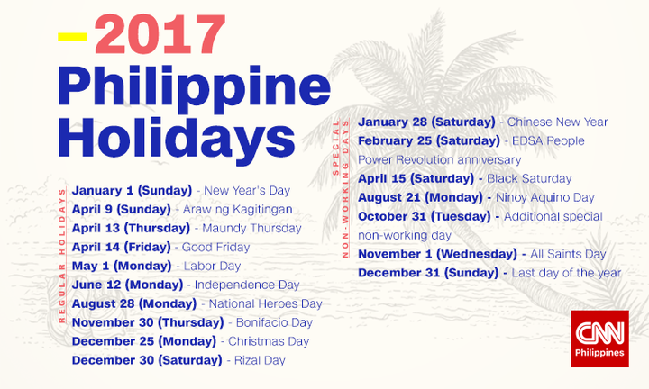 august 2017 calendar with holidays philippines