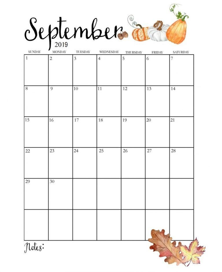 graphic regarding Printable September Calendar referred to as ✅ Absolutely free Printable September 2019 Calendar Site PDF Term