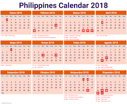 Calendar 2018 January Philippines | 2018 January Calendar