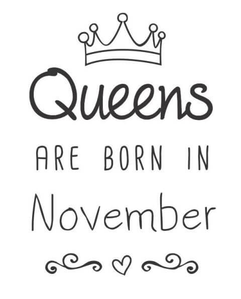 Birthday Quotes November Month