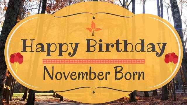 Happy November Birthday Pictures Free