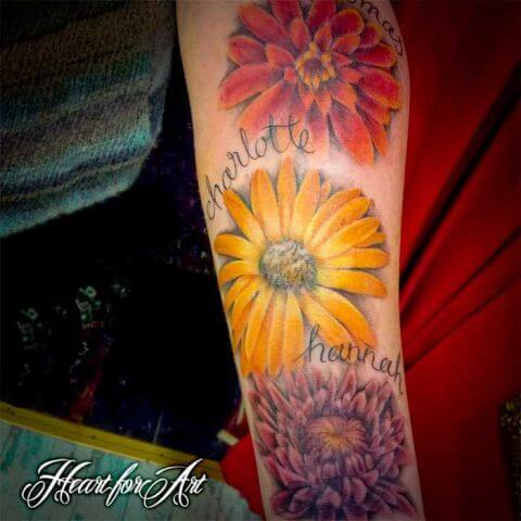 November Birth Flower Tattoo