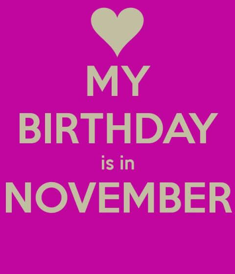 November Birthday Images Pinterest