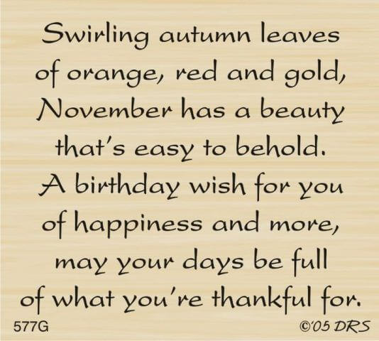 November Birthday Month Quotes