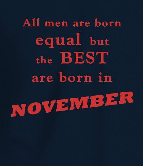 November Birthday Quotes