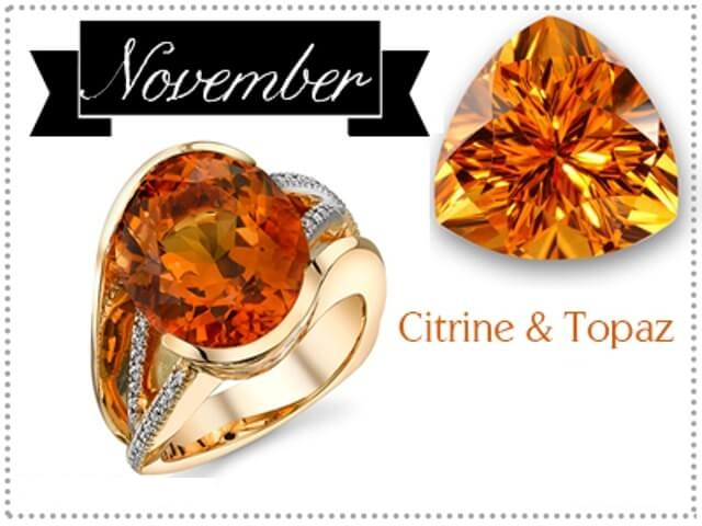 November Birthstone Citrine and Topaz