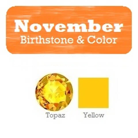 November Birthstone and Color