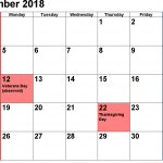 November 2018 Calendar with Holidays India USA Canada NZ Malaysia Singapore