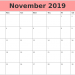 Free November 2019 Printable Calendar PDF Excel Word Document