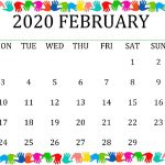 February 2020 Calendar PDF Word Excel Notes| Free Feb 2020 Calendar Download