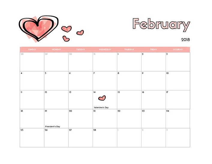 February 2018 Holidays US