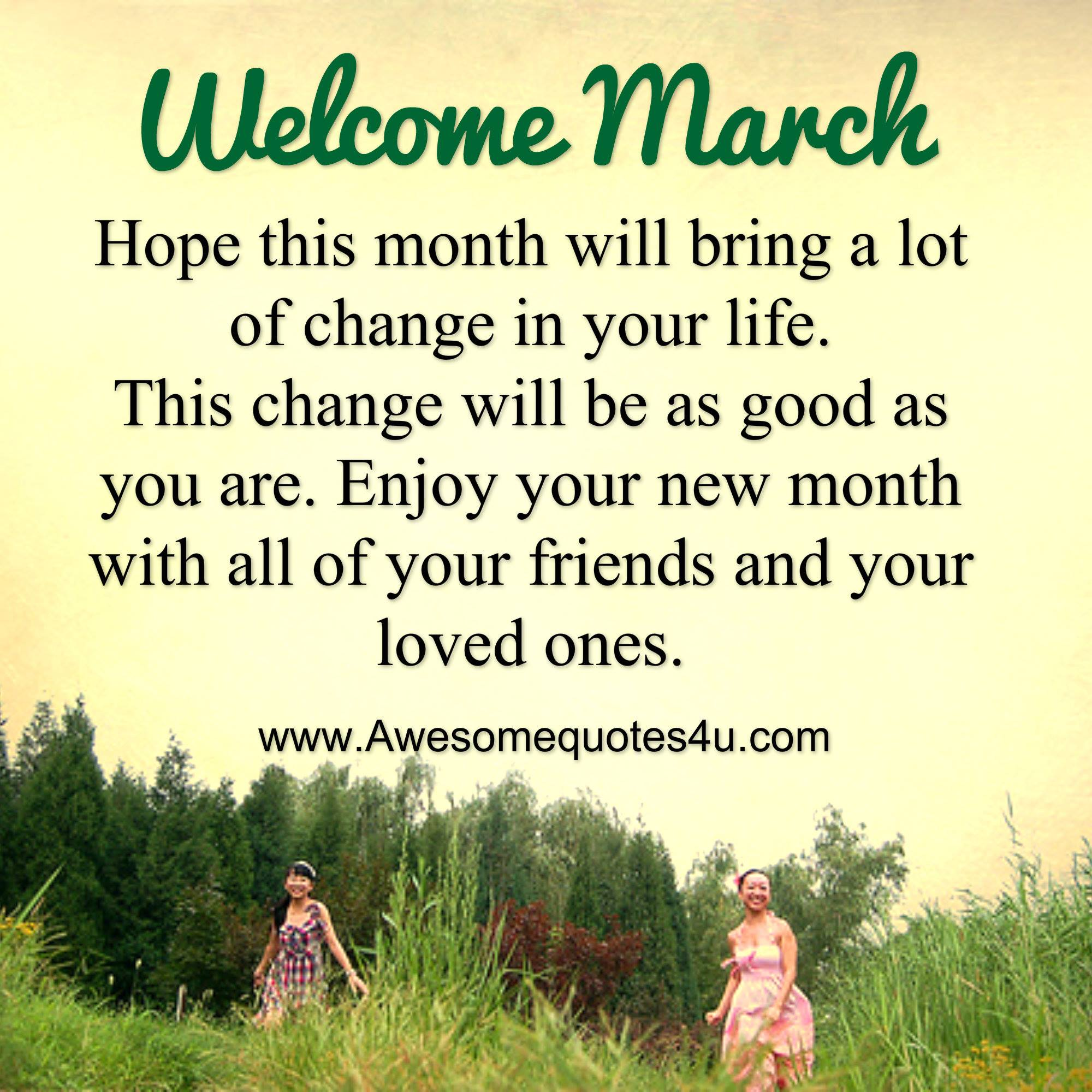 Welcome March Quotes For Calendar