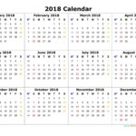 Free Printable Calendar 2018 | Printable Monthly Calendar | Blank Calendar Template PDF Excel Word One Page