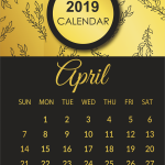 Free April 2019 Printable Calendar Template Editable PDF Word Excel A4 Notes