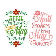 April Showers Bring May Flowers Clipart