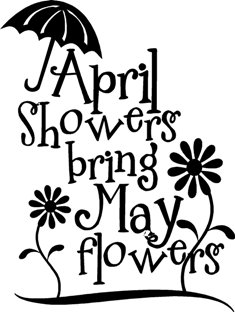 April Showers Bring May Flowers Coloring Pages Blank