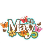 Happy Month May Images Pictures Photos Flower Clipart Floral Wall Calendar Crafts Pinterest Facebook