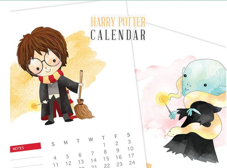 Printable Harry Potter Calendar 2018