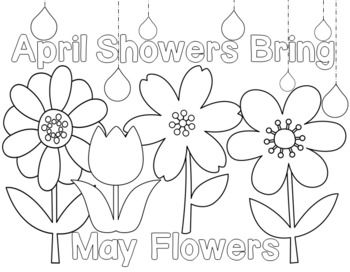 Coloring Pages April Showers Bring May Flowers