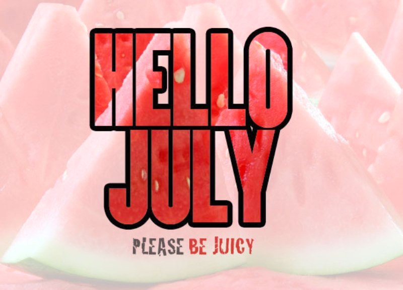Cute Hello July Images
