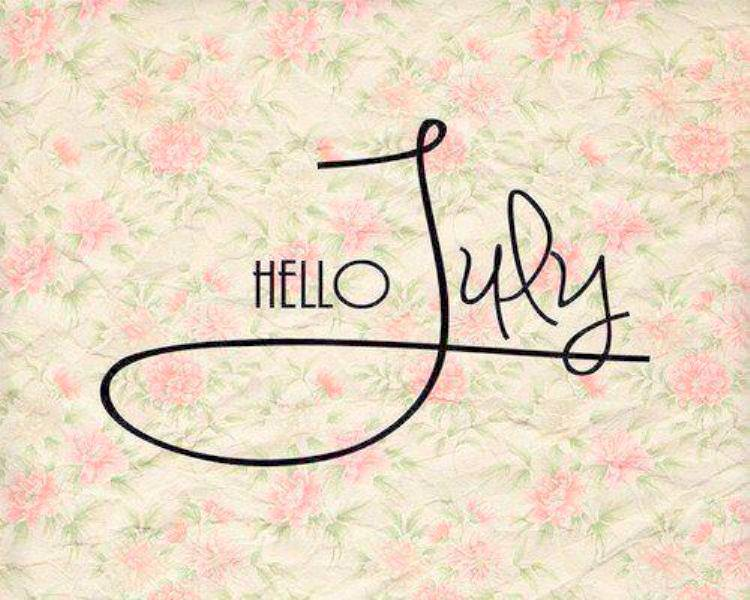 Hello July Flower Images