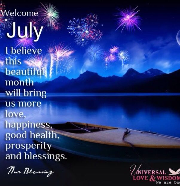 Welcome July Nature Wallpaper