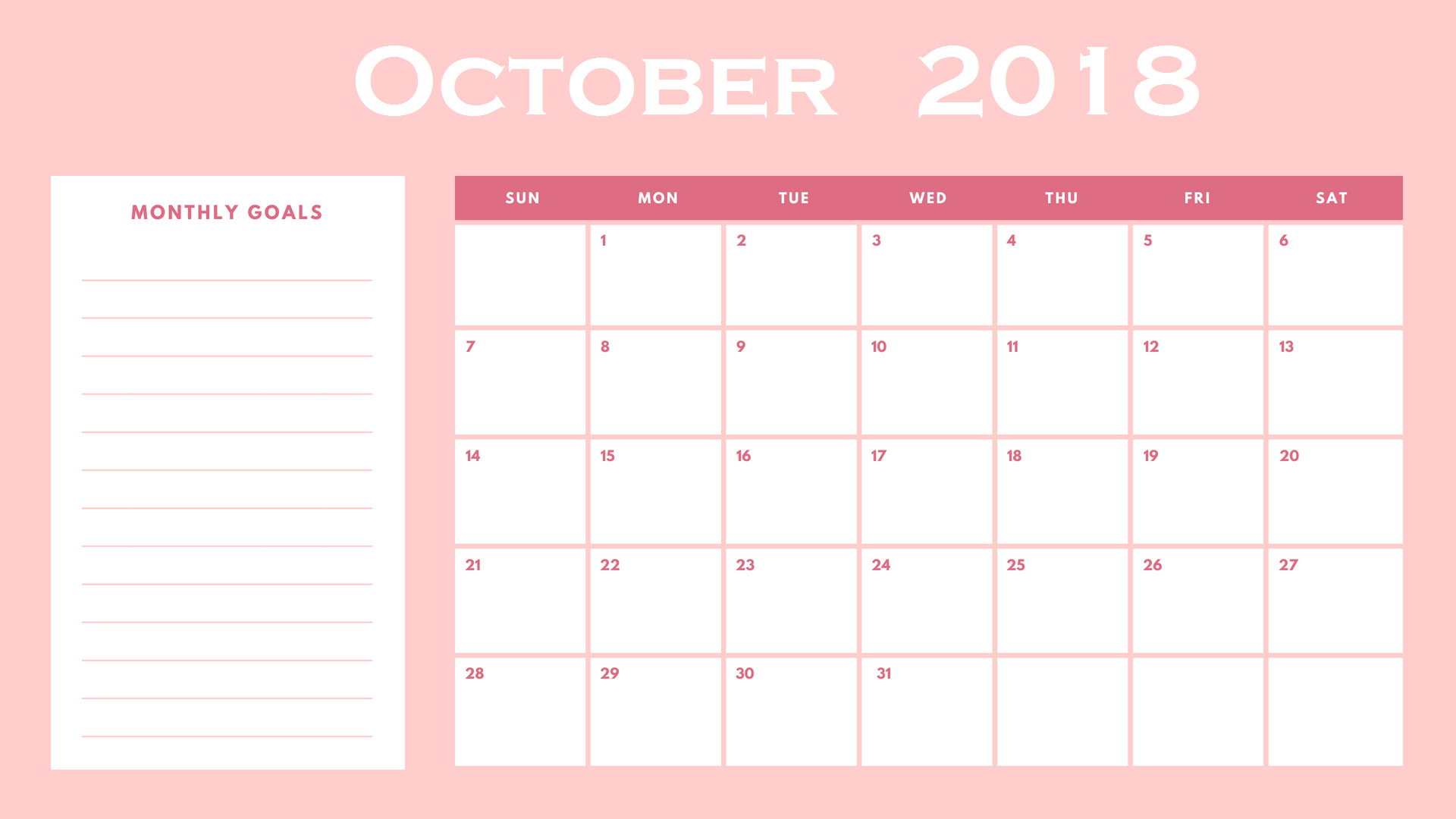 Calendar Wallpaper Maker : Cute october calendar wall floral pink designs images
