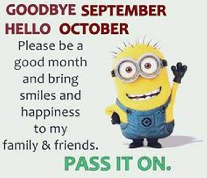 Goodbye September, Hello October Quotes
