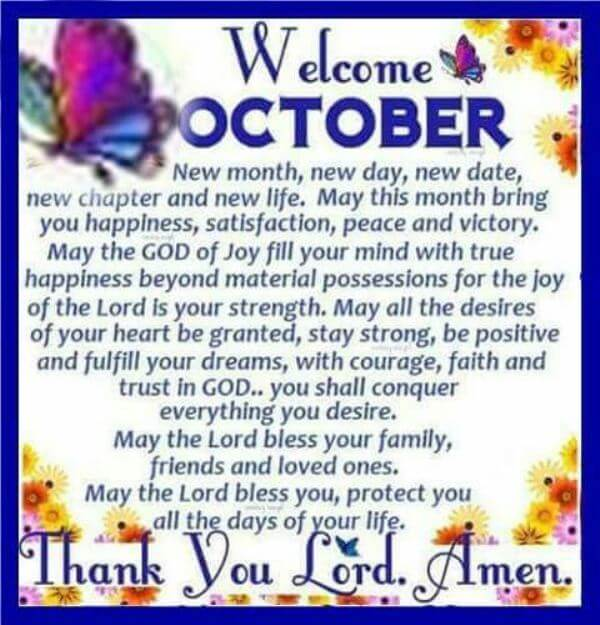 Welcome October Quotes, Messages, Wishes, Status