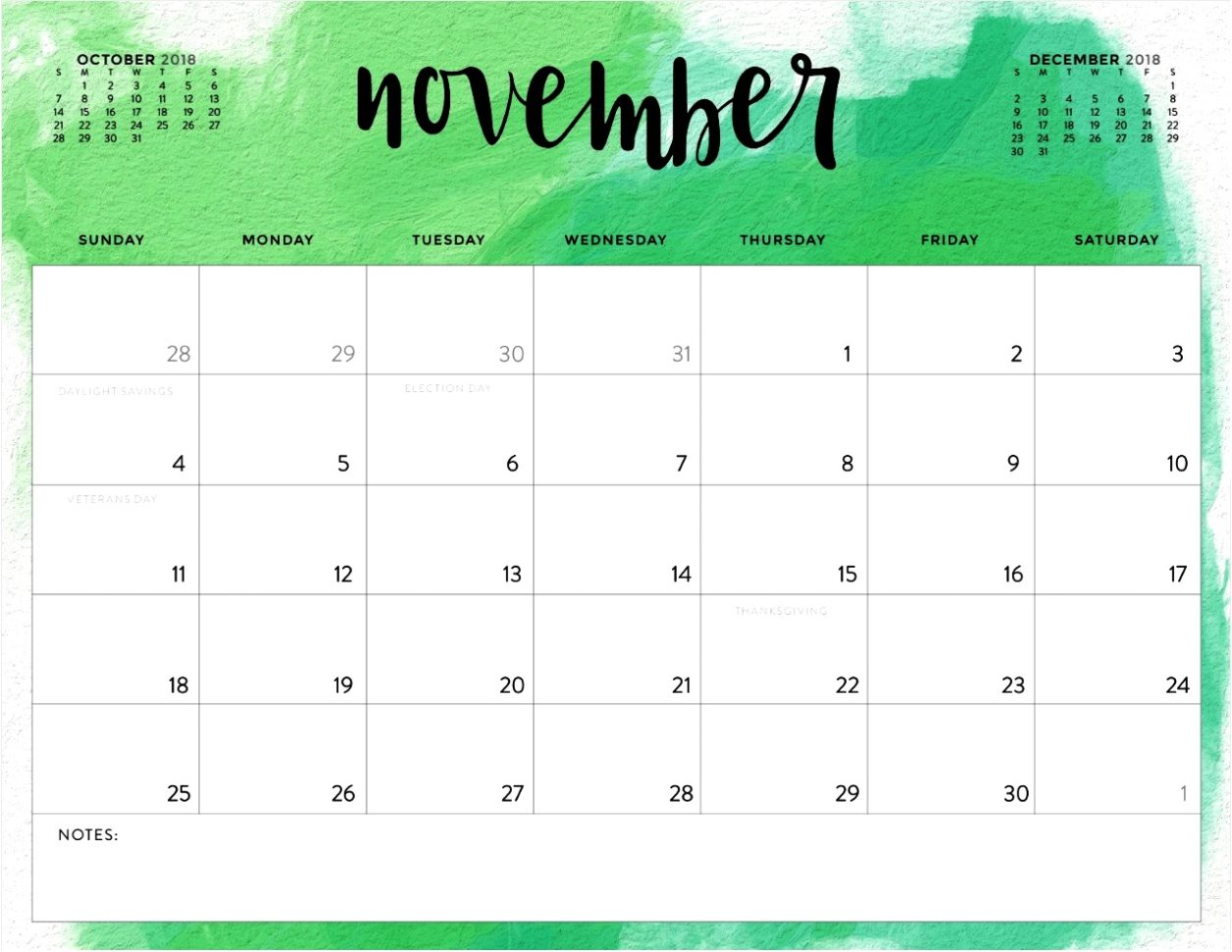 100 Cute November 2018 Calendar Wall Floral Designs Images Pictures
