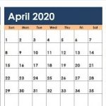 March April May 2020 Calendar Printable Word PDF Landscape Notes Download