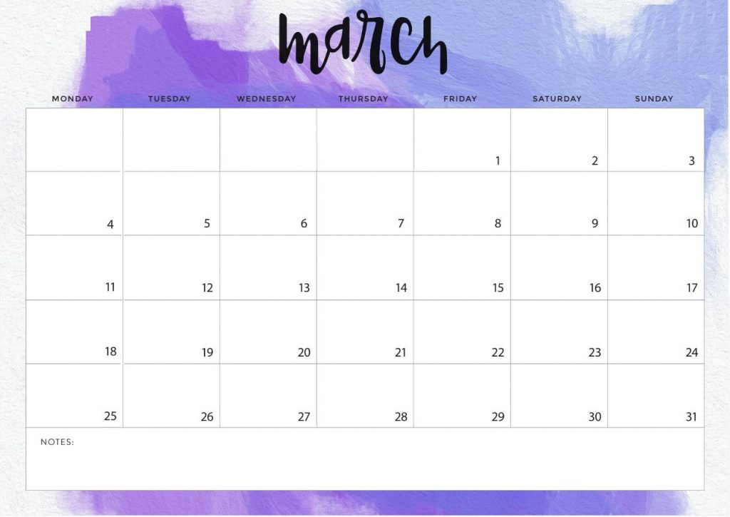 fillable march 2019 calendar printable