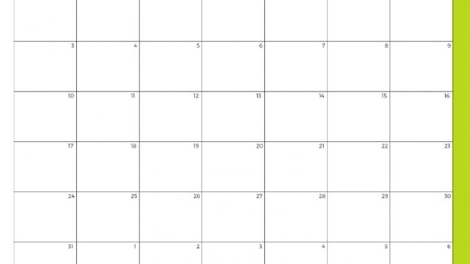 Print Free Editable May 2020 Calendar Blank Template