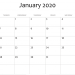 21+ (Free) January 2020 Calendar Printable Templates