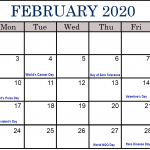 February Holidays 2020 – February Calendar 2020 with Festival Dates & Events