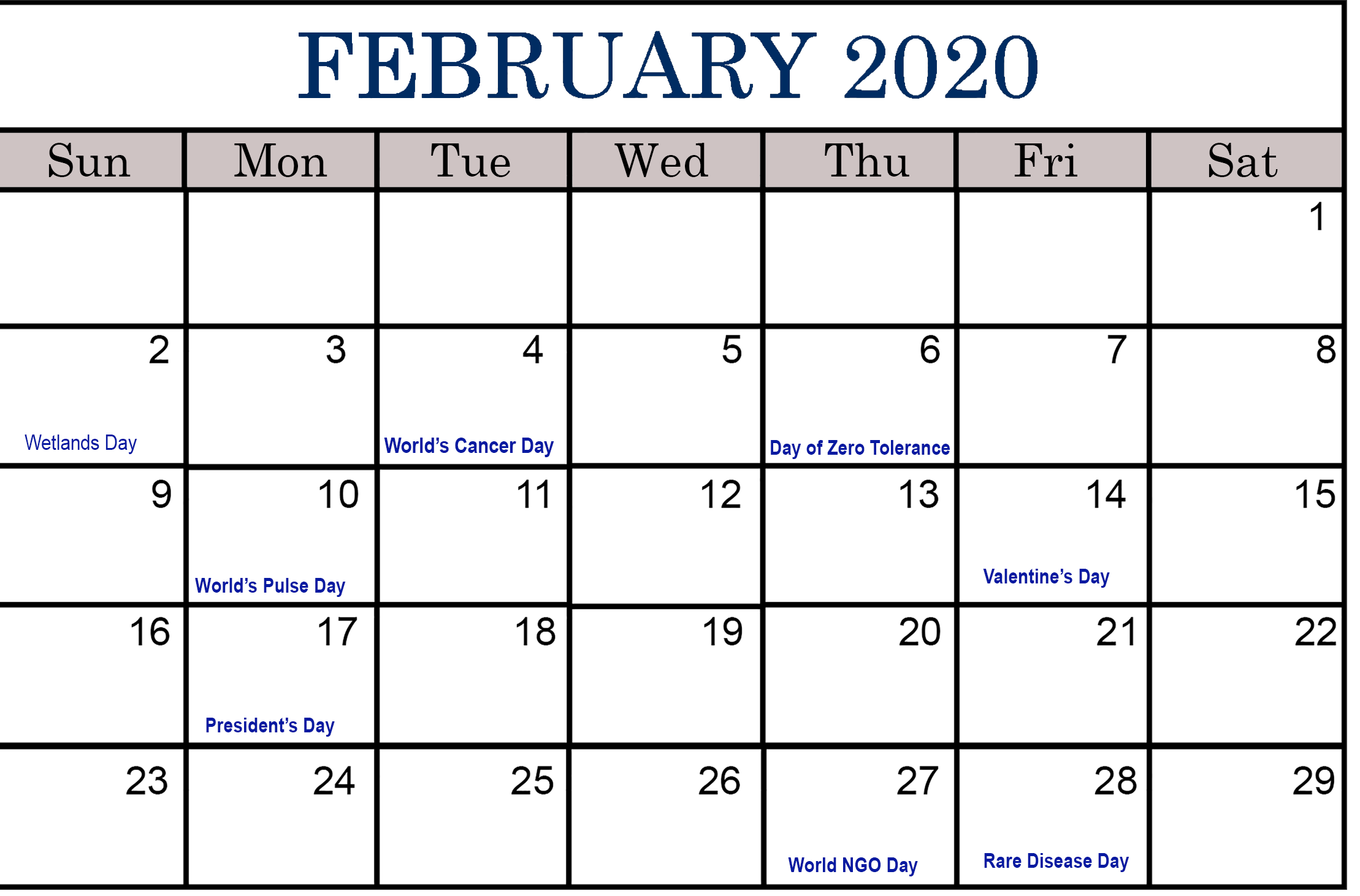 Events Calendar 2020.February 2020 Calendar Events Kozen Jasonkellyphoto Co